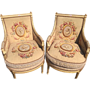 pair of two Louis xv chairs