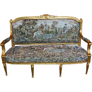Special sofa/settee in Louis xvi style
