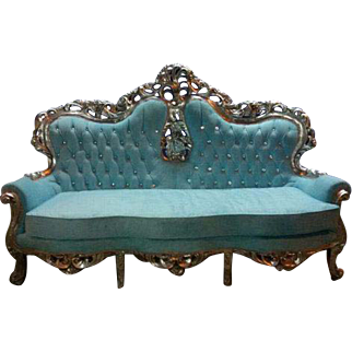 Baroque settee for 3 person in Italian style