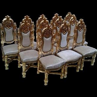 12 Italian dining room chairs