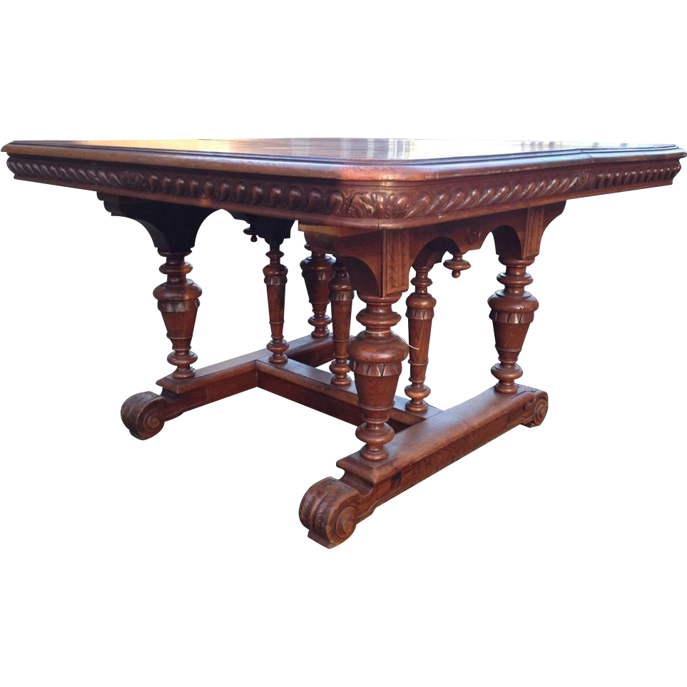 baroque dining room table for 8 person or more from maisondantique on
