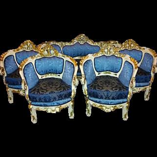Italian stylish living room set, sofa and 4 chairs