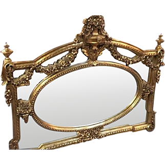 Giltwood mirror in French Louis xvi style