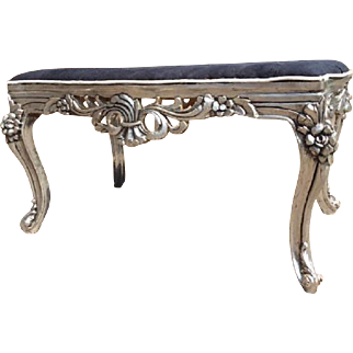 Lovely bed bench in black and silver combinations