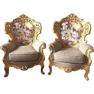 Pair of two Baroque chairs