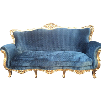 Elegant sofa in Louis xvi style