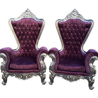 Very stylish baroque pair of two chairs