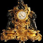 Antique original table clock pendulum by Dussault Paris