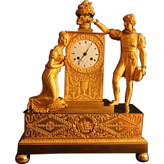 French Empire Table Clock/Pendulum From 1810 - Free Worlwide Shipping
