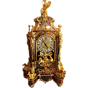 French Boulle Table Clock With Console From 1860 - Free Worldwide Shipping