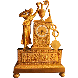 Antique French Empire Table Clock/Pendulum From 1810 - Free Worldwide Shipping