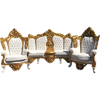Complete Sofa/Settee/Couch With 2 Chairs in Rococo