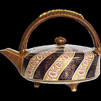 19th Century Royal Worcester Porcelain Aesthetic Movement Imari Teapot