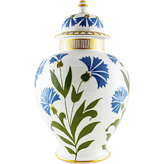 Rare Woods & Sons Pate Sur Pate Isnik Style Ginger Jar & Cover c.1915 Designed by Frederick Rhead