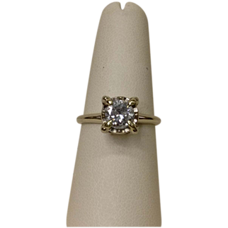 Stately .80ct Illusion Set Diamond Solitaire