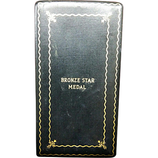 WWII  Bronze Star Metal Presentation Box