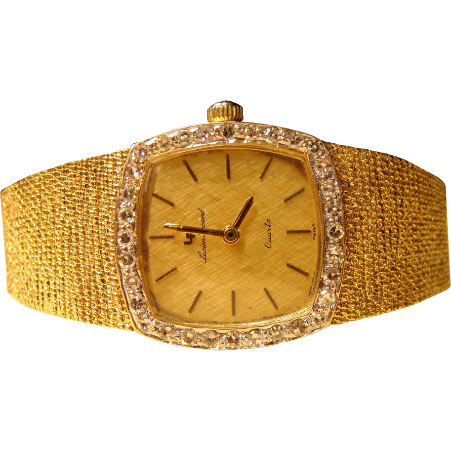 lucien piccard 14k yellow gold and swiss quartz