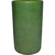 Hampshire Pottery, Matte Green, Large Cylindrical Vase