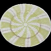 A Douglas Nash, Tiffany, Chintz, Large Luncheon Plate, Pinwheel Design, Nice