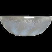 R Lalique, Chicoree Opalescent Bowl, Excellent Condition, Elegant Pattern