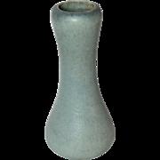 Grueby Pottery, Corseted Bud Vase, Blue Gray Oatmeal Textured Glaze, Very Nice
