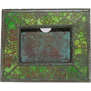 Tiffany Studios, Grapevine Calendar, Picture Frame, Green Glass, Outstanding