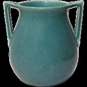 Rookwood Pottery, Arts & Crafts Buttress Handled, Robins Egg Blue Vase, Nice