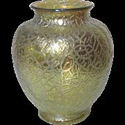 Loetz, Mimosa Candia Swollen Form, Outstanding Gold Crackle Iridescence