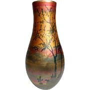 Weller Pottery, Lasa Tall Tapered Bulbous Scenic Vase, Beautiful