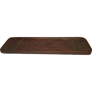 Tiffany Studios, Zodiac Pen Tray, Craftsman Brown Patina, Very Nice