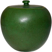 Hampshire Pottery, Cucumber Green Ginger Jar, Extremely Rare, X Condition