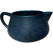 Hampshire Pottery, Frothy Matte Blue Large Creamer, HTF Form & Great Glaze