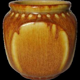 Rookwood Pottery, Arts Crafts Design, Beaded Block Geometric, Rare Mustard Glaze