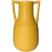 Rookwood Pottery, Arts & Crafts Buttress Handled, Matte Yellow Vase, Nice Form