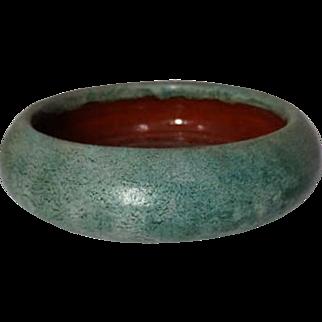 Merrimac Pottery, Frothy Blue Green Glazed Planter, HTF Glaze, Very Nice