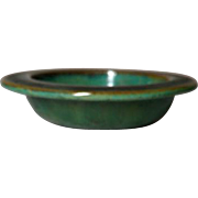 Fulper Pottery, Antique Verdi Berry Bowl, Very Nice Glaze