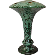 Fulper Pottery, Outstanding Leopard Skin Hatpin/Flower Frog Vase, Nice