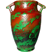 "Weller Pottery, Greora 8"" Double Handled Vase, Outstanding Glaze"