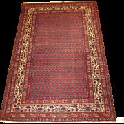Persian handmade Malayer Oriental Rug circa 1920 , 6.7 x 4.3