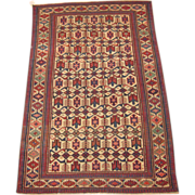 Antique Kuba Oriental Rug ,East Caucasus,Late 19th Century, 6 x 3.11