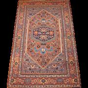 Antique Persian Bidjar Oriental Rug , Kurdistan Region , circa 1900 , 7.7 x 4.8