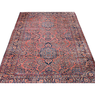 Lilian Carpet , Oriental Rug , Hamadan Area , West Persia circa 1920's , 11.9 x 9.2