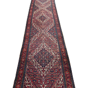 Persian Bibik-Abad runner,Oriental Rug , Hamadan District , Western Persia circa 1920 , 16.5 x 3.5