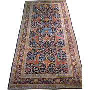 Indian Gallery Carpet , Oriental Rug , Northern India circa 1920's , 12x6
