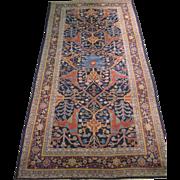 Indian Gallery Carpet , Oriental Rug , Northern India circa 1920's , 12x6