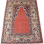 Antique Khotan Prayer Rug , East Turkestan , Sinjiang Province , Eastern China , 1st Quarter of 20th Century , 5.6 x 4