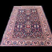 Mahal Crapet , Oriental Rug , West Central Persia , Arak Province 1920's , 11.8 x 8.4