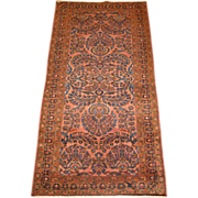 Persian handmade Lilian Oriental Rug , Small Runner circa 1920 , 6.4 x 3.2