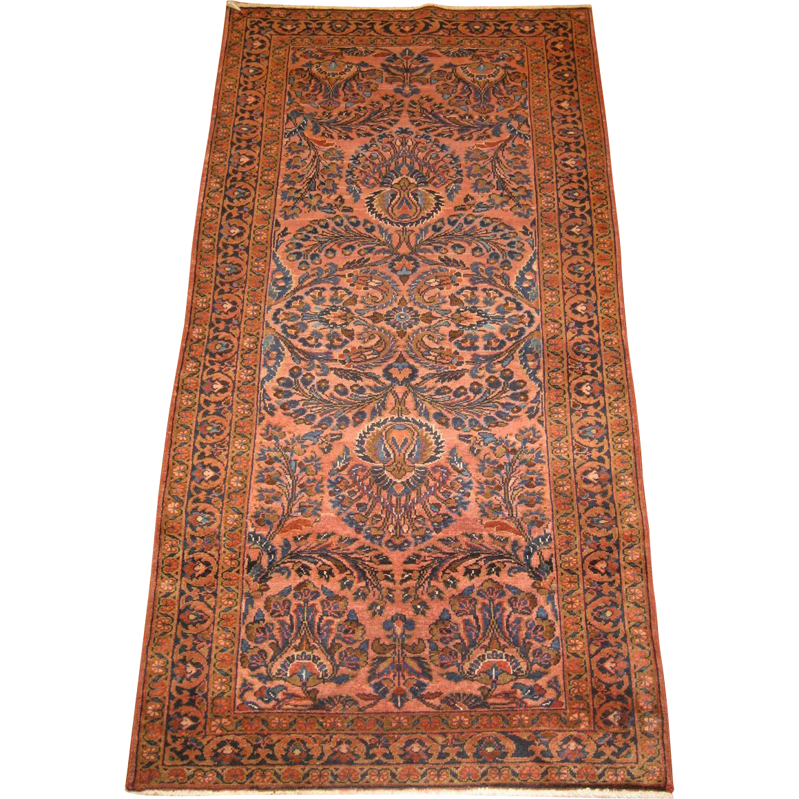 Persian Handmade Lilian Oriental Rug , Small Runner Circa