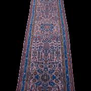 Persian Lilian Runner, Oriental Rug , Hamadan District , Western Persia circa 1920's , 10.4 x 3